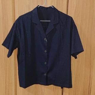 ジーユー(GU)のリネンブレンドオープンカラーシャツ(シャツ/ブラウス(半袖/袖なし))