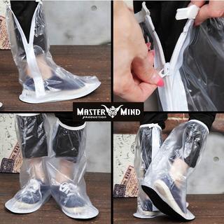 [新品送料無料]ホワイト/防水シューズカバー /レインシューズ/サイズL(レインブーツ/長靴)