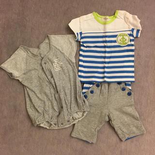 キッズズー(kid's zoo)のkids zoo  Tシャツ  ズボン   70サイズ   ロンパースおまけ付き(Tシャツ)
