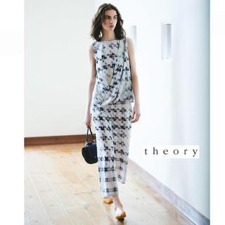 セオリー(theory)の美品 theory 18SSワイドパンツIkat Print FluidPant(カジュアルパンツ)