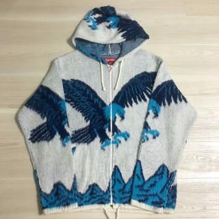 Supreme - Supreme Eagle Hooded Zip Up Sweater 白 L