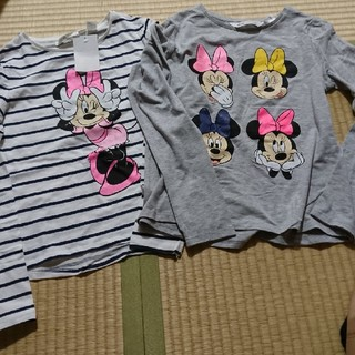 H&M - 新品 135cm/140cm 2枚セット H&M ミニーちゃん 長袖Tシャツ