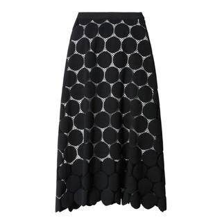 ルシェルブルー(LE CIEL BLEU)のlecielblue♡Big Dot Lace Flare Skirt (ロングスカート)