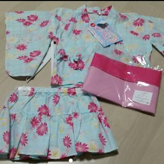 ニシマツヤ(西松屋)の新品 女の子 浴衣ドレス110(甚平/浴衣)