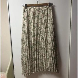 しまむら - フラワープリーツロングスカート