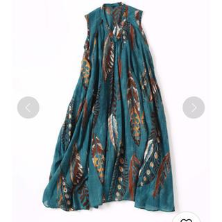 フォーティーファイブアールピーエム(45rpm)の45r フェザープリント ドレス(ロングワンピース/マキシワンピース)