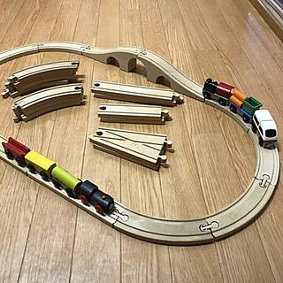 イケア(IKEA)のIKEA 木製レールセット(電車のおもちゃ/車)