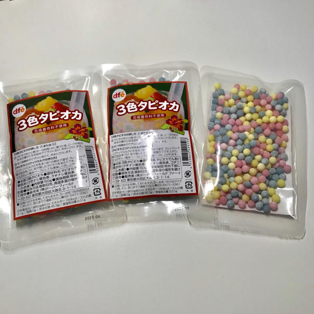KALDI(カルディ)のKALDI 3色タピオカ 3個セット 食品/飲料/酒の加工食品(乾物)の商品写真