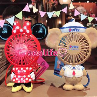 Disney - 極香港ディズニー❣️新作✨ハンディー扇風機 ダッフィー ミニー セット♡