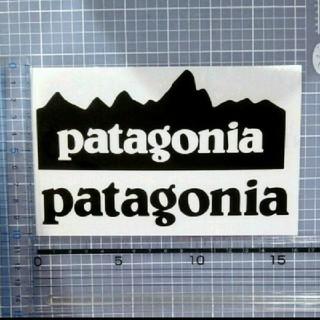 patagonia - パタゴニア ステッカー 黒 2枚セット