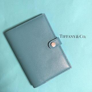 ティファニー(Tiffany & Co.)のティファニー ブルー パスポートケース 手帳 カードケース 美品(旅行用品)