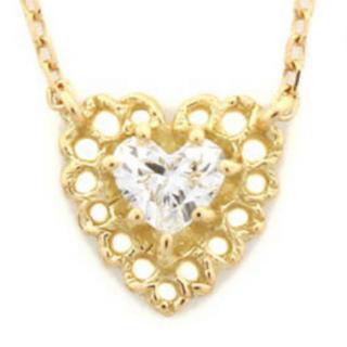 AHKAH - アーカー ダイヤモンド ネックレス レーシアアモール ハートダイヤモンド