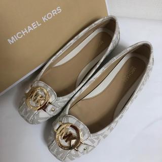 マイケルコース(Michael Kors)の新品 MICHAEL CORS フラットシューズ 5M(22)(バレエシューズ)