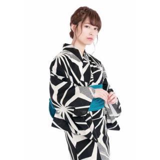 ダズリン(dazzlin)の新品 未使用 麻の葉 古典柄 浴衣 レディース 単品 黒白グレー(浴衣)