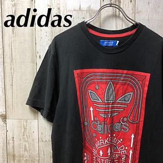 アディダス(adidas)の【 adidas 】アディダス ビックプリント Tシャツ XOサイズ ブラック(Tシャツ/カットソー(半袖/袖なし))