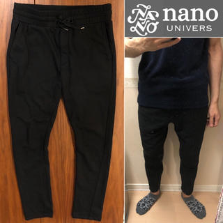 ナノユニバース(nano・universe)のnano universイージーパンツ黒パンツスウェットパンツメンズ送料込(その他)