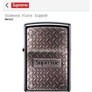 シュプリーム(Supreme)のdiamond plate supreme zippo(タバコグッズ)