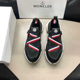 モンクレール(MONCLER)のMONCLER モンクレール  靴/シューズ スニーカー パンプス 黒 43(スニーカー)