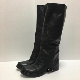 ミュウミュウ(miumiu)の【miu miu】ロングブーツ/37サイズ(ブーツ)