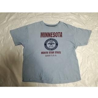 綿100% 80'風 半袖Tシャツ ブルー(Tシャツ/カットソー(半袖/袖なし))