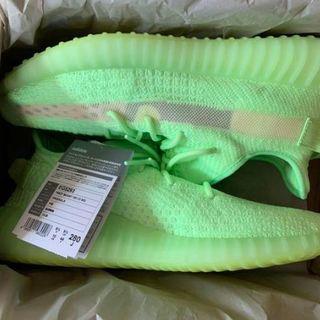 adidas - 28cm yeezy boost 350 v2 glow
