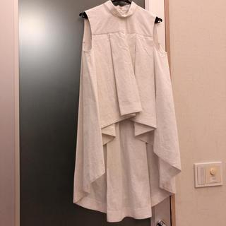 エンフォルド(ENFOLD)の新品同様 ENFOLD デザイントップス(カットソー(半袖/袖なし))
