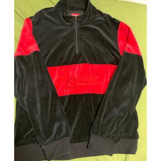 Supreme - supreme 17AW velour half jip pullover XL