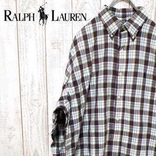 ラルフローレン(Ralph Lauren)の【01-16】チェック ボタンダウンシャツ ワンポイント マルチカラー(シャツ)