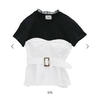エイミーイストワール(eimy istoire)のビスチェドッキングTシャツ  (Tシャツ(半袖/袖なし))