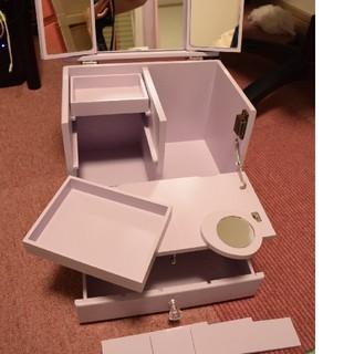 フランフラン(Francfranc)のコンパクト ドレッサー 鏡つき コスメ テーブル台 コスメ収納 パス(棚/ラック/タンス)