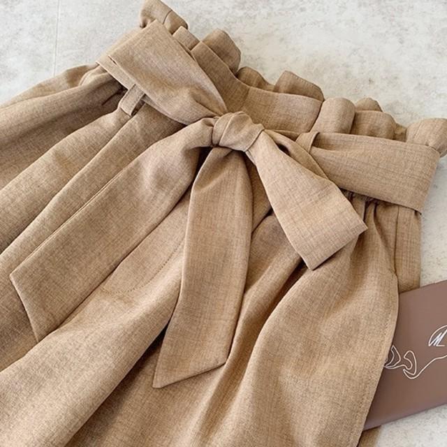 しまむら(シマムラ)のしまむら MUMU コラボワイドパンツ 新品タグ付き レディースのパンツ(カジュアルパンツ)の商品写真