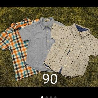 carter's - 【まとめ買い割】半袖シャツ 3枚組 90