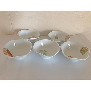 香蘭社 - 深川製磁 寿赤絵 小皿揃