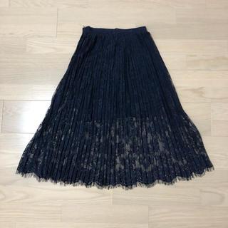 エイチアンドエム(H&M)のプリーツスカート(ひざ丈スカート)