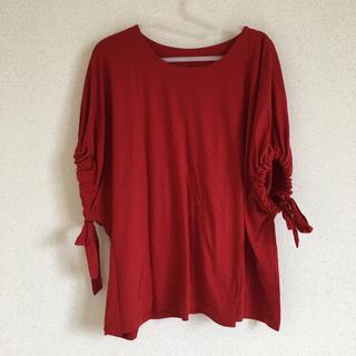 シマムラ(しまむら)の3L  赤カットソー(カットソー(半袖/袖なし))