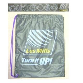 中古 LesMills レスミルズ USED 7ロゴ ビニール 巾着 【B03】
