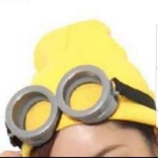 ミニオン(ミニオン)のコスプレミニオンズ ニット帽&ゴーグル(小道具)