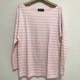 エディットフォールル(EDIT.FOR LULU)のエディットフォールル ピンクボーダーTシャツ(Tシャツ(長袖/七分))