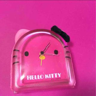 ハローキティ(ハローキティ)のハローキティ❥❥❥ぬいぐるみ置き時計(置時計)