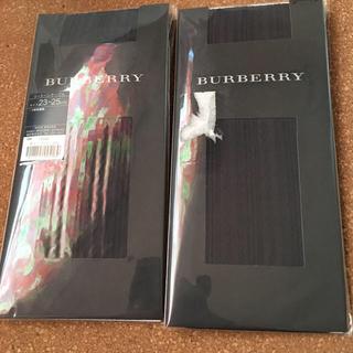 バーバリー(BURBERRY)のバーバリーハイソックスタイプ新品2点(ソックス)