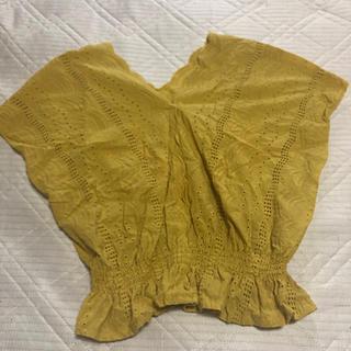 ジーユー(GU)のGUカットレースフレンチブラウス(シャツ/ブラウス(半袖/袖なし))