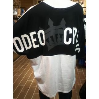 RODEO CROWNS WIDE BOWL - ホワイト 関西限定ドルマンバイカラーTシャツ 関西の皆さんもビックリ衝撃特価や!