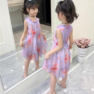 KWBS009可愛い子供、キッズワンピース(100-160) (ワンピース)