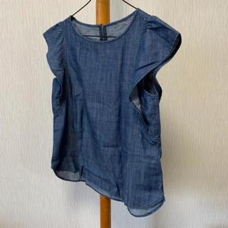 ジーユー(GU)のGU ❤︎ フリルデニムトップス(シャツ/ブラウス(半袖/袖なし))