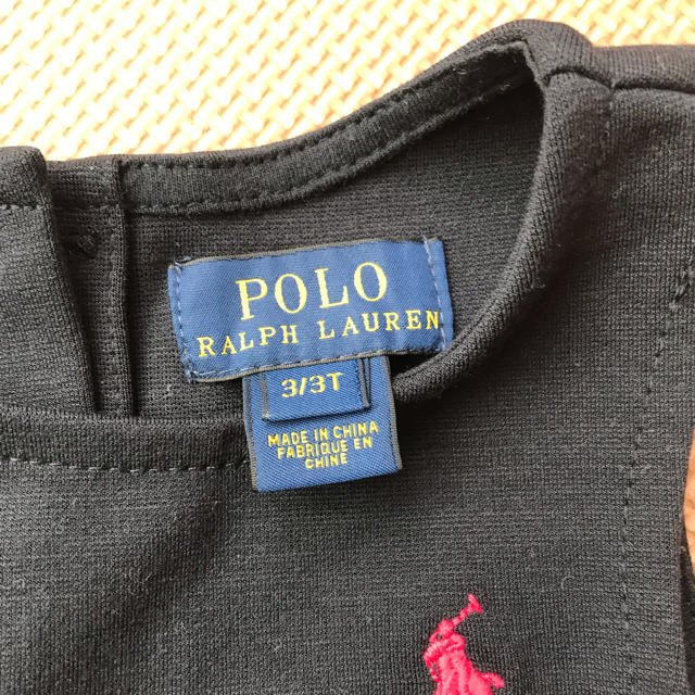 Ralph Lauren(ラルフローレン)のラルフローレン 濃紺ワンピース 3T(95cm) キッズ/ベビー/マタニティのキッズ服 女の子用(90cm~)(ワンピース)の商品写真