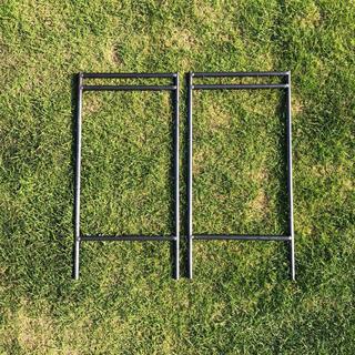 アイアンラック 2段 鉄脚のみ // ラック 棚 アイアン 什器 シェルフ
