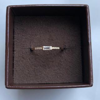 ココシュニック(COCOSHNIK)のK10 ダイヤ ホワイトトパーズ 10号(リング(指輪))