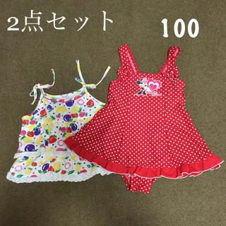 ニシマツヤ(西松屋)の水着 キャミ 2点セット 100(水着)