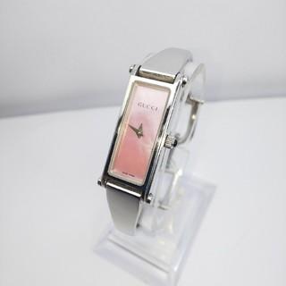 グッチ(Gucci)のGUCCI 腕時計 ピンクシェル 1500L 稼働中 sサイズ 858(腕時計)