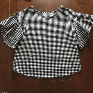 ジーユー(GU)のGU トップス ギンガムチェック柄(シャツ/ブラウス(半袖/袖なし))
